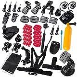(Promotions Super Discount)Comwinn Sports Accessories Kit for GoPro HERO 4 / 3+ / 3 / 2 / 1 / SJ4000 / SJ5000 / SJ6000 (37 Items)