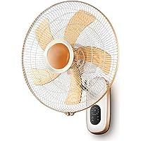 HRD Ventilador de Pared sin Hojas Ventilador de Escritorio silencioso Dorado con Control Remoto//Temporizador 32W