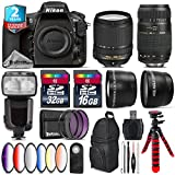 Holiday Saving Bundle for D810 DSLR Camera + 18-140mm VR Lens + Tamron 70-300mm Di LD Lens + Flash with LCD Display + 2.2x Telephoto Lens + 0.43x Wide Angle Lens - International Version