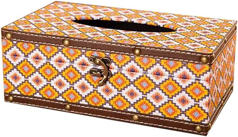 Hornet Park Caja de Papel con Forma de Cubo Caja de servilleta con Forma de Estilo Europeo Caja de Tejido Retro # 3: Amazon.es: Hogar