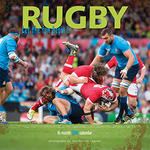 Rugby 2018 12 x 12 Inch Monthly Square Wall Calendar by Wyman,...