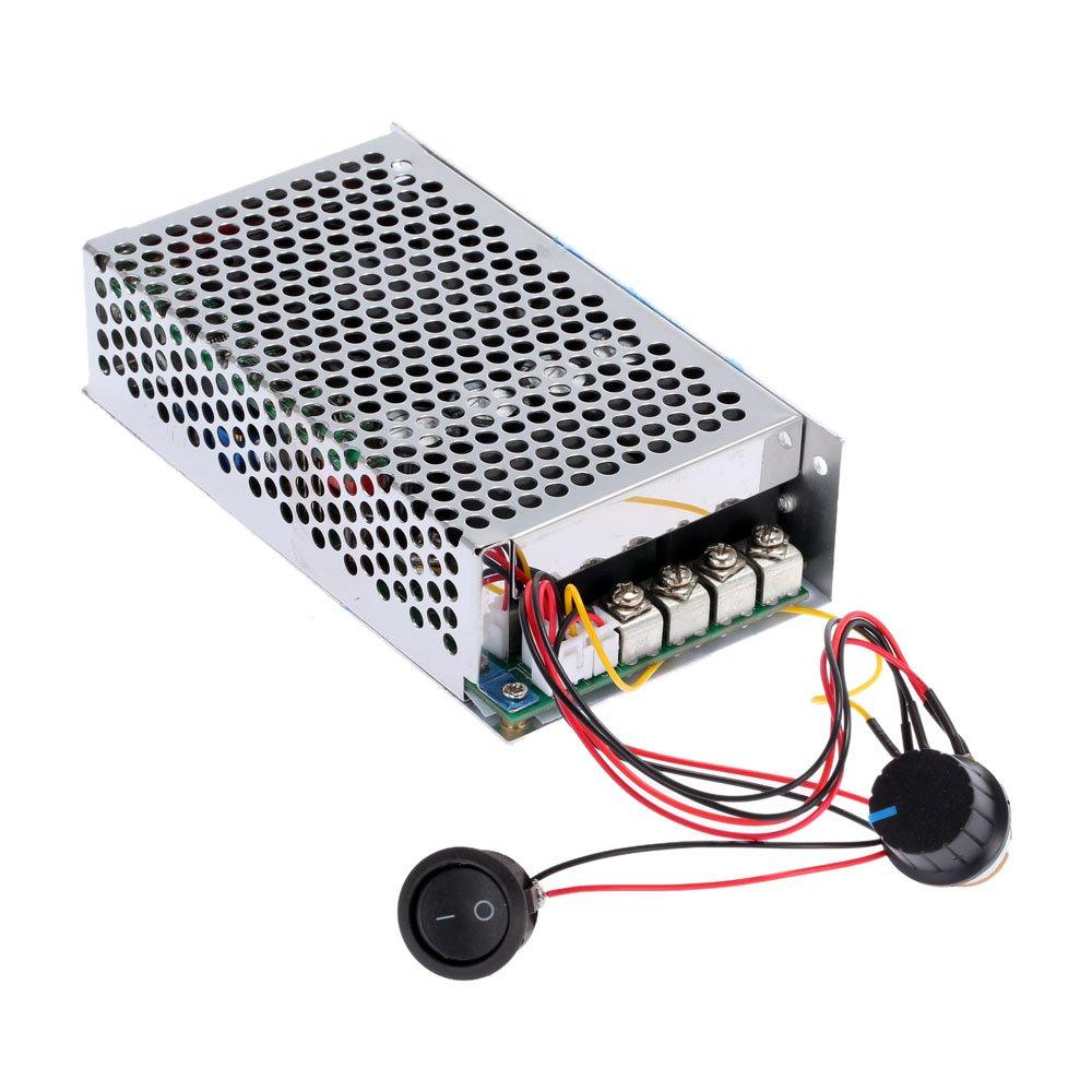 Walmeck 10-30V 100A 3000W Programable Reversible DC Motor Adjustable Speed Controller Regulator PWM Control