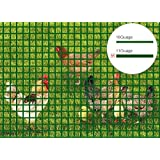 V Protek Ultimate Tomato Cage Heavy Duty 5ft-Hx25ft-L Mesh 2.4 inch Openings PVC Coated Fence Wire Poultry Netting Gutter Guards Chicken Run Rabbit Fencing to Keep Out Racoons Gophor Hunter Green