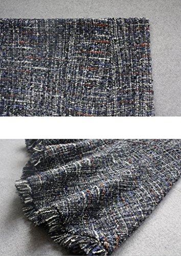 JIN PING® Gonne a coda di pesce, sezione lunga della nuova gonna antivento slim skin asimmetrica slim in lana grezza ( dimensioni : Xl )