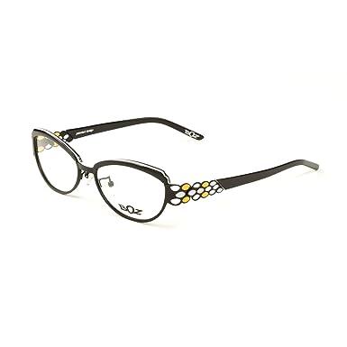 BOZ Women\'s Rumba Cat Eye Eyeglass Frames 54mm Black/White/Orange at ...