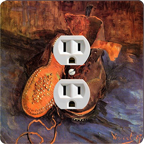 Rikki Knight 1340 Outlet Van Gogh Art A Pair of Shoes Design Outlet Plate