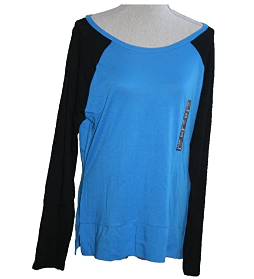 Gap womens long sleeve lightweight baseball jersey shirt large gap womens long sleeve lightweight baseball jersey shirt large blueblack malvernweather Choice Image