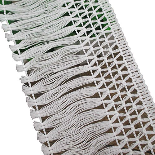 assel Fringe Lace Trim For Dress Skirt Extender Curtain Home Decor DIY Craft Supply By 5 Yards (Cotton Tassel Trim)
