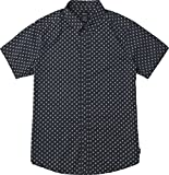RVCA Men's Mini Paisley Short Sleeve Woven Button UP Shirt, New Navy, XL