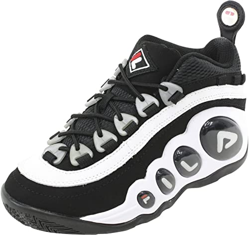 Fila Men's Bubbles Hightop WhiteBlackRed Basketball Shoes