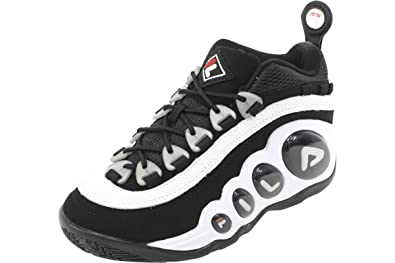 Fila Mens Bubbles Hightop White/Black/Red Basketball Shoes ...