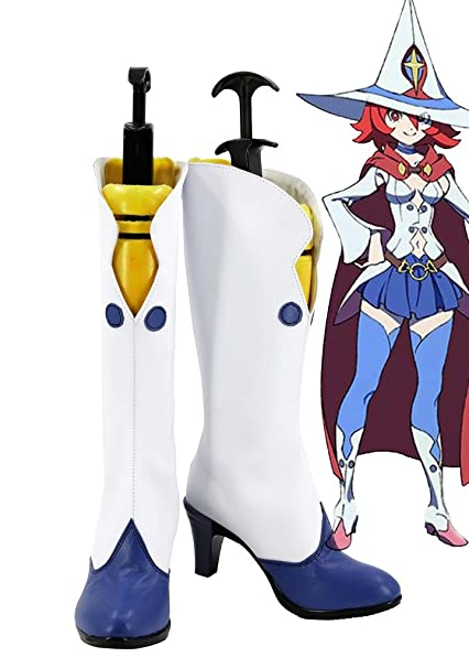 Little Witch Academia Ursula Callistis Shiny Chariot Boots Cosplay Shoes Boots Custom Made