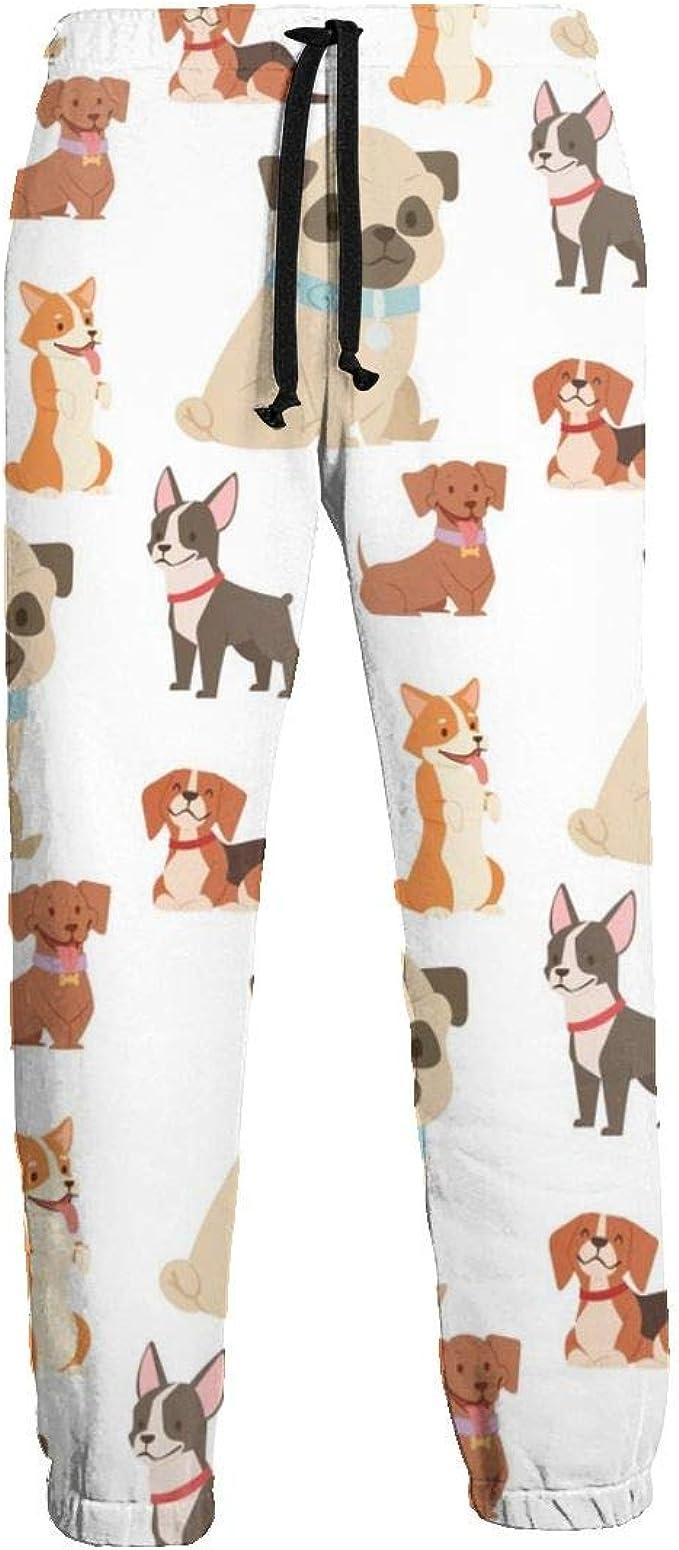 Puppy Cute Dogs Funny Purebred Comic Happy Mens Hip Hop Premium ...