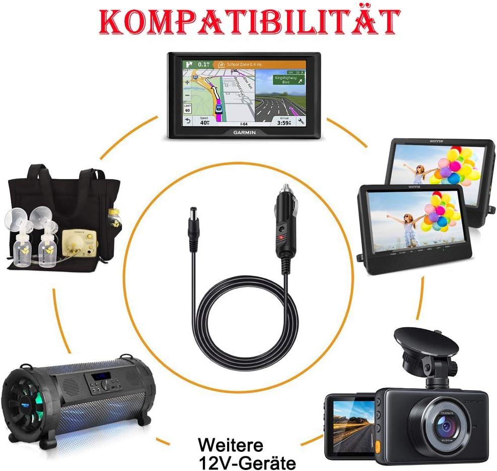 Tablet Netzkabe Ladekabel LED-Lichtleiste CCTV Mit 8 Tips DVD-Player MEROM Universelle 12V Auto Ladeger/ät Netzteil Kompatibel mit Kamera