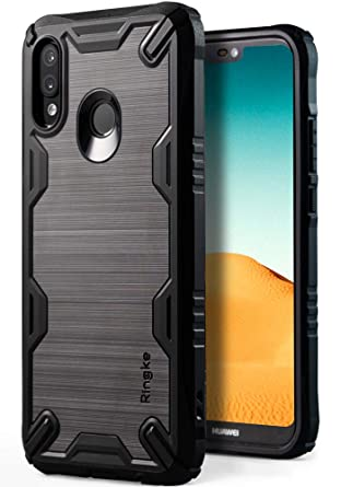 official photos aca44 1f33a Ringke Onyx-X Case Compatible with Huawei P20 Lite, Impact Resistant Rugged  TPU Grip [Heavy Duty Protection] Flexible Reinforced Corner Shock ...