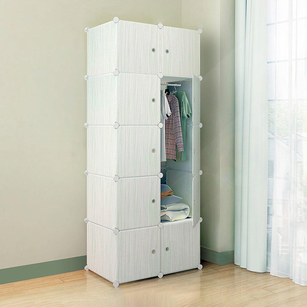 Lewie-Wardrobe Schlafzimmer Moderne Montage Kleiderschrank Einfachen Schrank Harzkombination Falten Tuch Erwachsene Karikatur Kind Kleiderschrank Lagerung