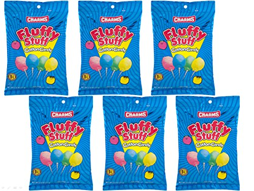 Fluffy Stuff Cotton Candy 2.5 Oz Theater Size Bags - Pack of 6 ()