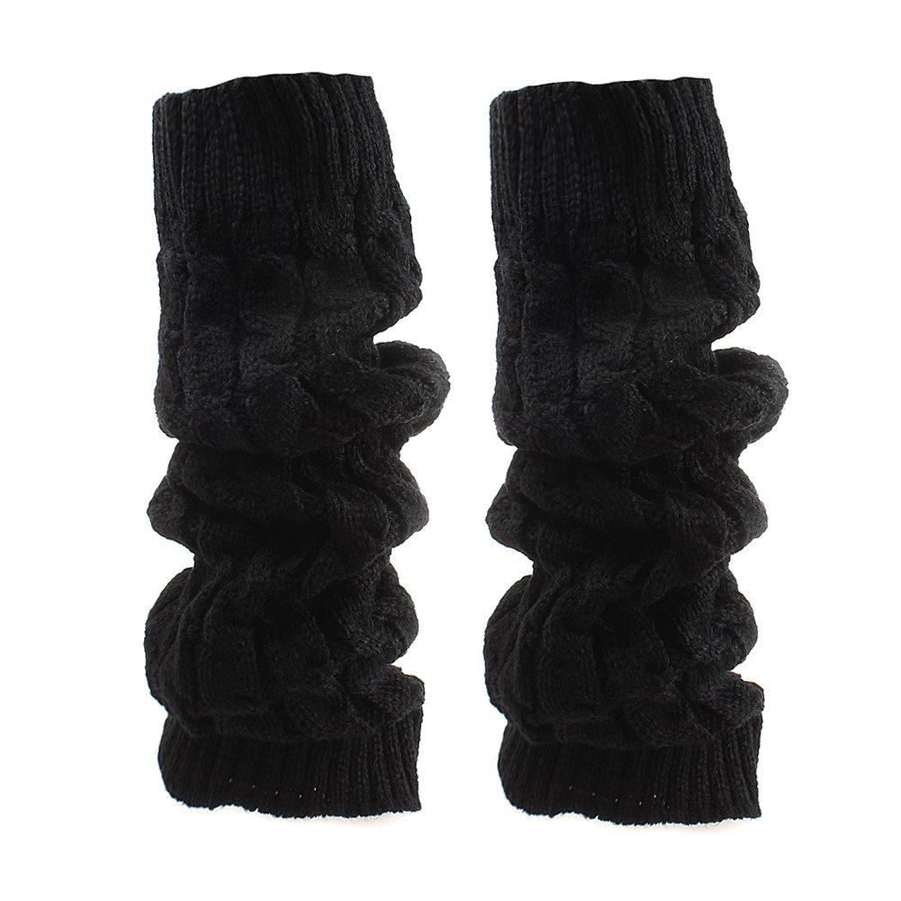 TININNA Inverno Cavo Knit Knit Crochet ginocchio alto gambale Scaldamuscoli Boot Socks lunghi Calzini Bianco TININNA0069W