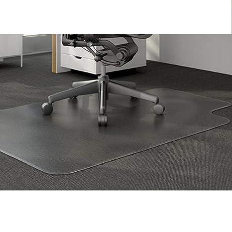 GIOVARA tapete transparente para silla con borde para suelos de alfombra de pelo bajo, mediano