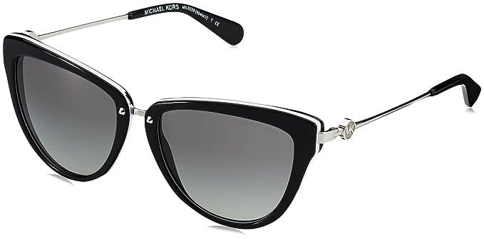 Michael Kors Abela II Gafas de sol, Black/White 312911, 56 ...
