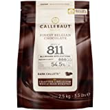 Semisweet - Callets para hornear chocolate oscuro (chips), 53,8%