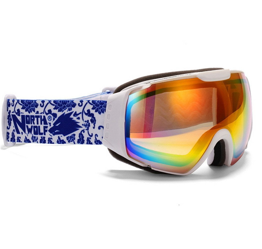 Lunettes de Ski Sport écran ANTI Brouillard Buée Protection protection UVA UVB UVC pour adultes homme femme Blanc MBxtmfJy