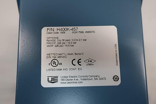 Amazon.com: UE United ELECTRIC H400K-457 Interruptor de ...