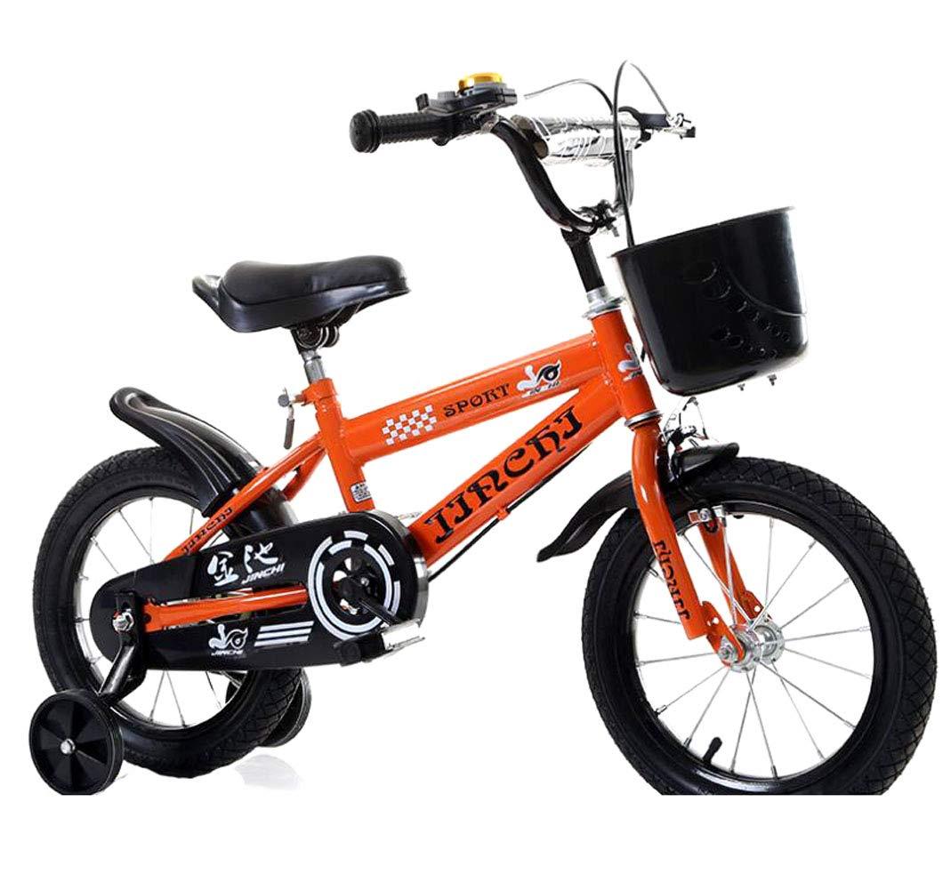 I bambini del ragazzo della ragazza del freestyle bike bike di dimensioni con stabilizzatori, borraccia e portabatterie, i bambini della ragazza hanno una dimensione di bici con stabilizzatori e cesti
