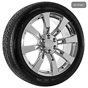 20 Inch Chrome SKU 065 GMC Wheels Rims & Tires Package