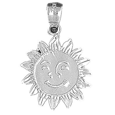 Amazon silver sun pendant with chain 26mm jewelry silver sun pendant with chain 26mm mozeypictures Choice Image