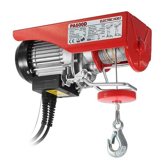 Partsam Polipasto eléctrico 300/600kg 1050W 1320lbs Overhead ...