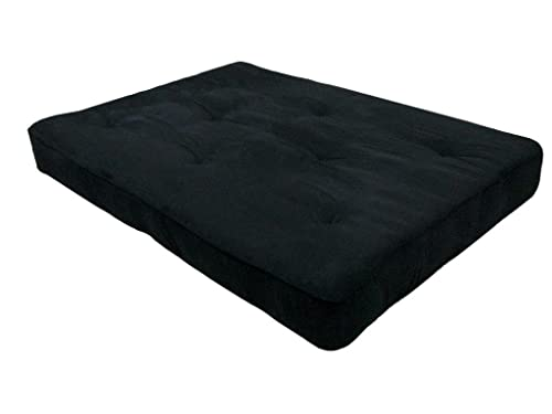 Home Life 8-Inch Independently-Pocket Coil Premium Futon Mattress Full Size - Black