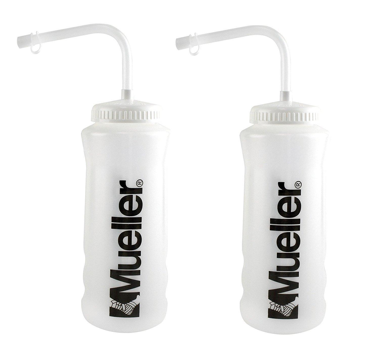 5f2e45110c Amazon.com: Mueller Quart Bottle w/ Straw (New Design), Natural ...