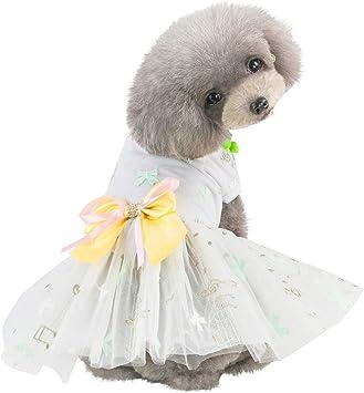Hawkimin - Vestido de Perro para Mascotas, con música Bordada, con ...