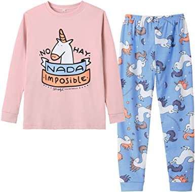 US Girls Horse//Unicorn Long Sleeve Nightgown Pajama Dress Sz 4-10Years Kids Gift