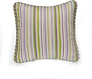 product image for Glenna Jean Penelope Stripe Pillow, Lavender/Mint/White