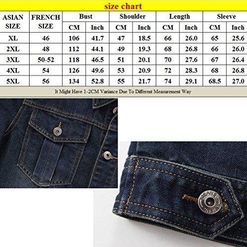 Coat Classic Size Autumn And With Blue Zhhlaixing Denim Pockets Chest Mens Morbida Confortevole Light 5xl xl Spring Jacket H1x4gpq