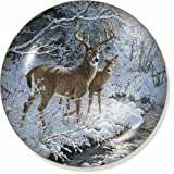 Creekside - Whitetail Deer Collector Plate by Persis Clayton Weirs