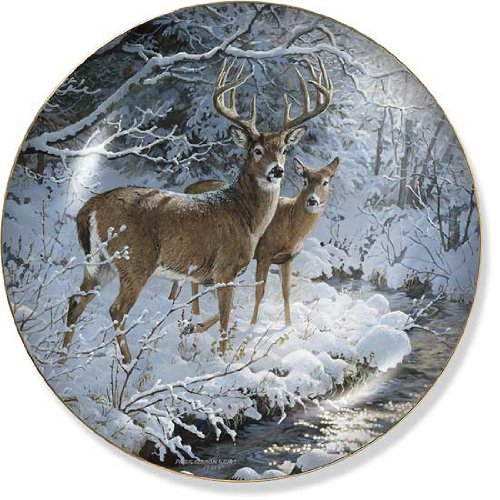Weir Plate (Creekside Whitetail Deer by Persis Clayton Weirs 8.25 inch Decorative Collector)