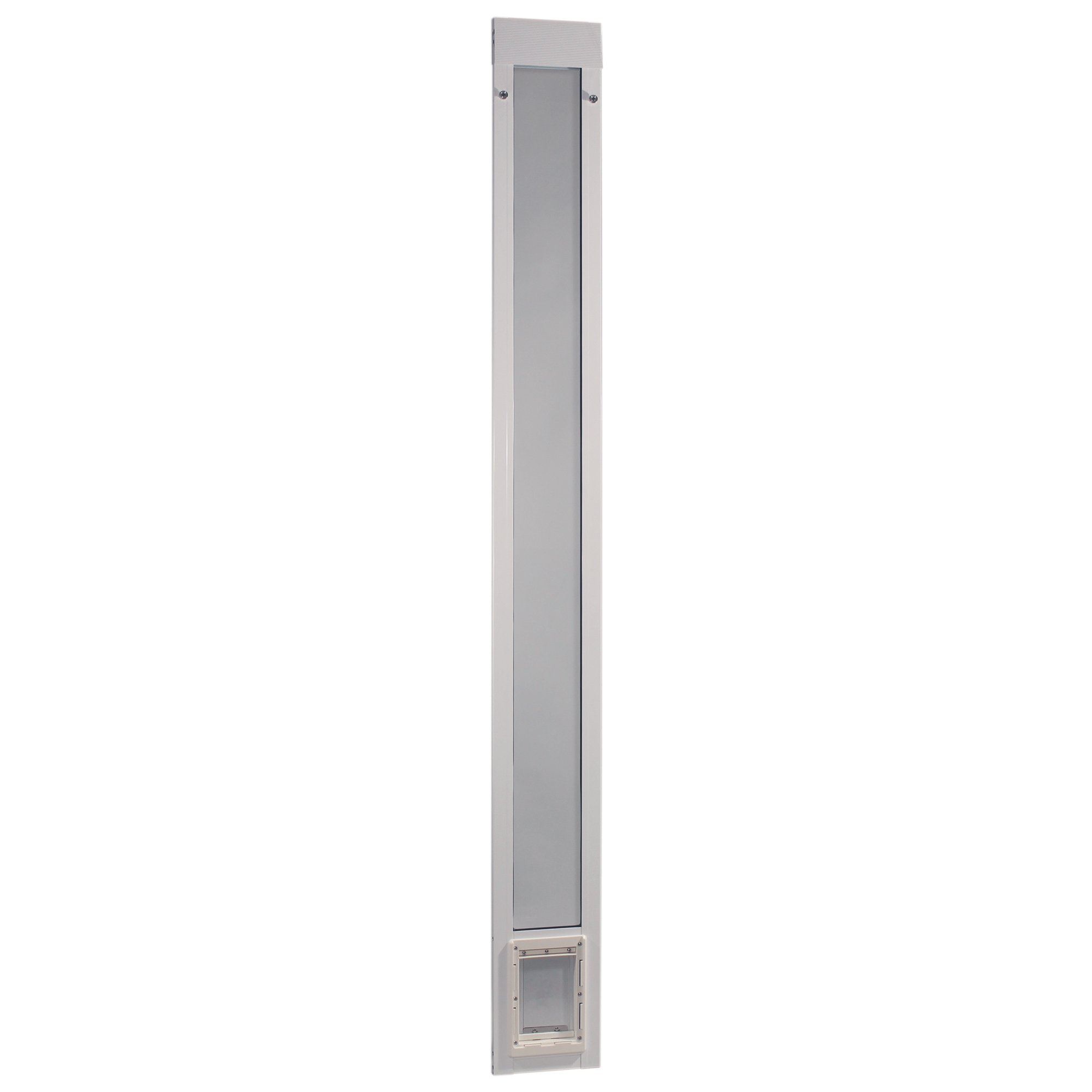 Ideal Pet Products 96'' Fast Fit Aluminum Pet Patio Door, Small,  5'' x 7'' Flap Size, White by Ideal Pet Products