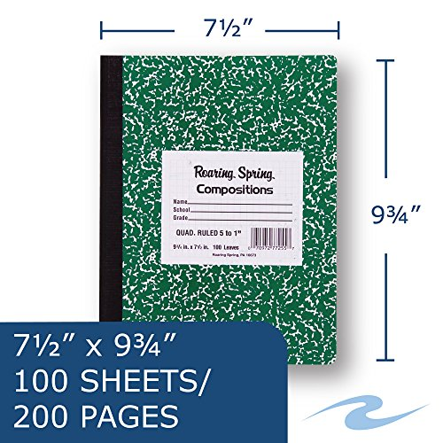 Roaring Spring Hard Cover Composition Book Photo #6
