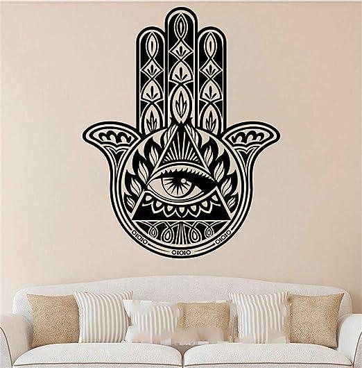 Vinilos De Pared Decorativos Hamsa Hand Yoga Vibes Fatima ...