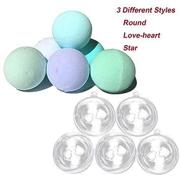 kangkang @ 15pcs DIY baño bomba Moldes forma de bola 3 modelos diferentes bolas de acrílico accesorios de baño para DIY Homemade Bomba de Baño Forma bolas: ...