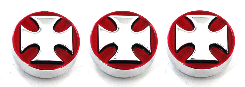 Pack of 3 ALS:4400ICR All Sales 4400ICR Iron Cross Heater//AC Knob,