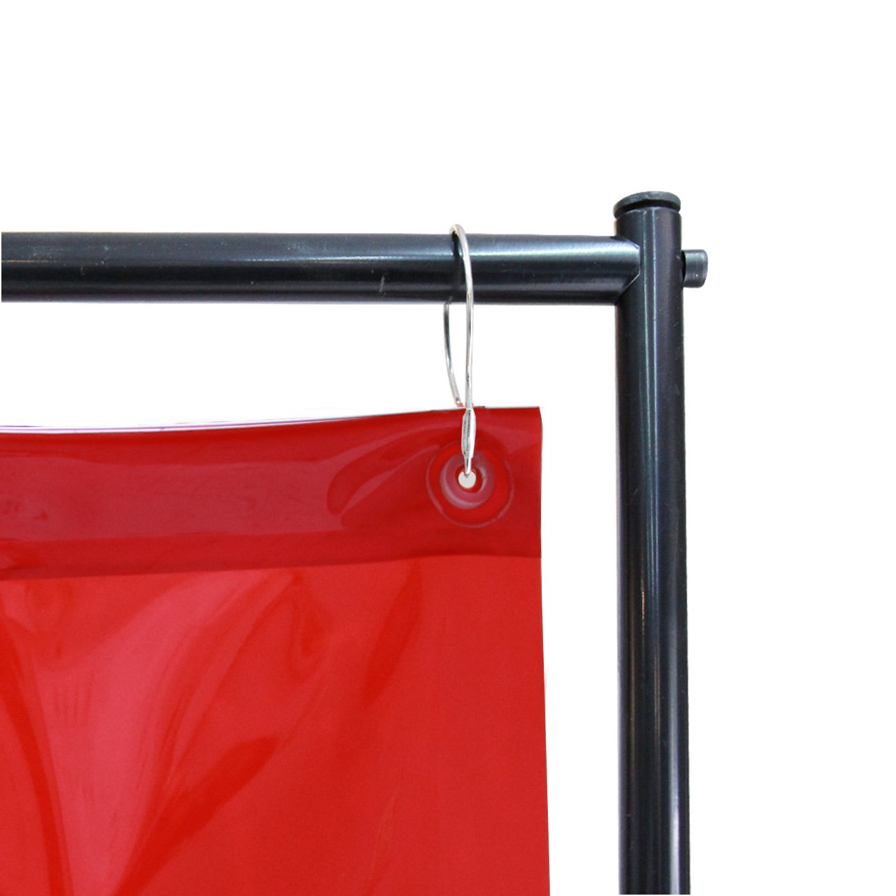 VIZ-PRO Red Vinyl Welding Curtain/Welding Screen With Frame, 6' x 6' by VIZ-PRO (Image #3)