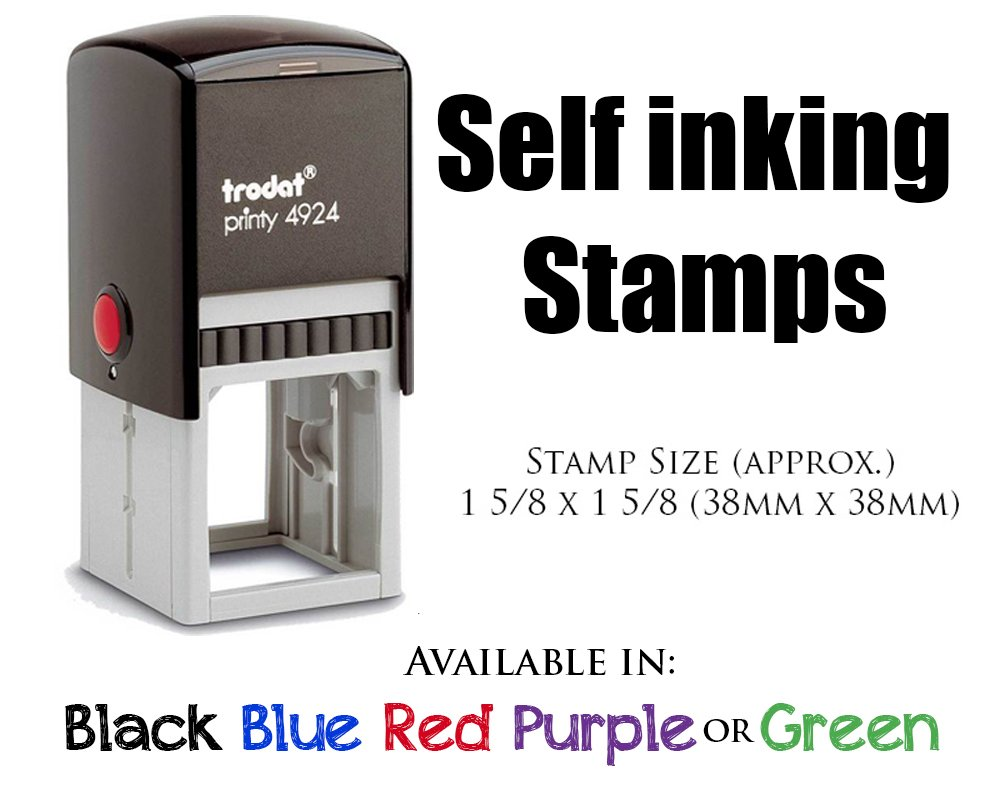 Red Ink, Self Inking Personalized Teacher Stamp This Book Belongs To School Student Open Book Library Book Stamper Custom Large Round 3 Lines Customized Personal Teacher Appreciation Book Label by Pixie Perfect Stamps (Image #2)