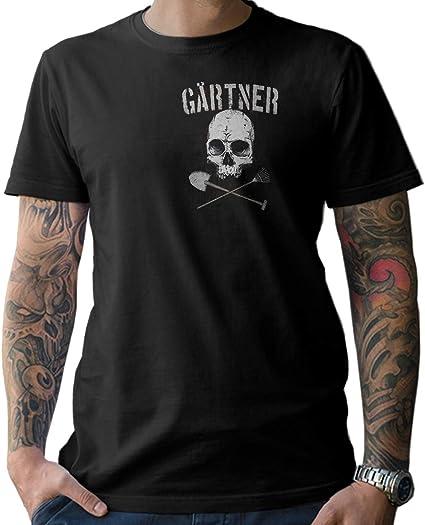 NG articlezz Camiseta Hombre – Jardinero Calavera - de Culto Camisa Manga Corta para la Gartenliebhaber Debajo Euch Talla S - XXXXXL - con Frontal y ...