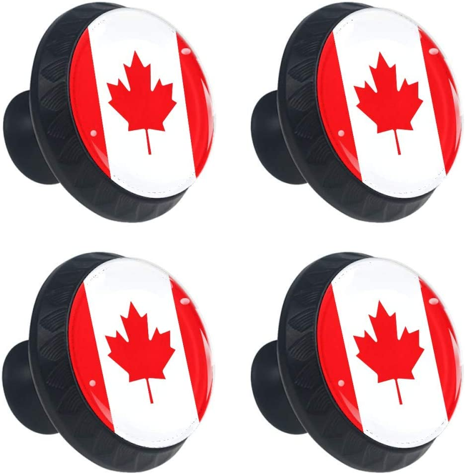 Glass Cupboard Hardware for DresserDrawers Door Cabinet Knobs Drawer Pulls Handle Chiefs Home Office Kitchen Wardrobe Beautiful Canada Flag Maple Leaf