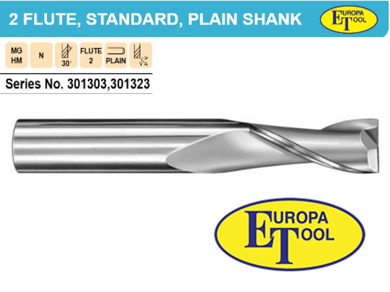 Standard Length 25mm Every Size From 1mm 1mm Solid Carbide 2 Flute Slot Drill End Mill//Slot Drill Europa Tool Solid Carbide 2 Flute Endmils