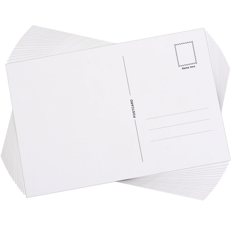 60 Pi/èces Cartes Postales Vierges avec le C/ôt/é dExp/édition 6 par 4 Pouces